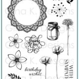 Gina K Designs – Frame and Flowers 1