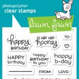 Lawn Fawn – Tiny Tag Sayings Birthday (stamp set)
