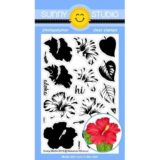 Sunny Studio Stamp – Hawaiian Hibiscus (stamp & die set)