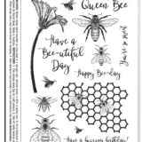 Darkroom Door – DDRS205 Buzzing Bees Stamp Set