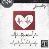 Tim Holtz / Sizzix 664416 Heart Beat Thinlits set – out of stock