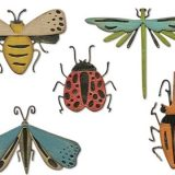 Sizzix / Tim Holtz – 665364 Funky Insects Colorize die set – out of stock