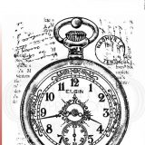 Woodware Clear Stamps – FRM011 – Pocket Watch