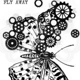Woodware Stamps – FRS831 Cog Butterfly
