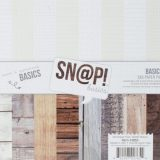 Simple Stories – Sn@p! Color Vibe Basics Wood & Notebook (SNAP2853) 6×6″ paper pad