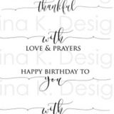 Gina K Designs – Scripty Sayings 1 Mini – out of stock