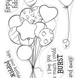 Hero Arts – CM547/DI904 Bunch of Balloons stamp and die set