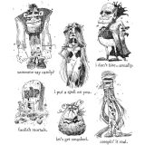 Tim Holtz/Stampers Anonymous – CMS381 Monster Reunion stamp set