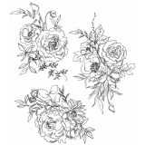 Tim Holtz/Stampers Anonymous – CMS430 Floral Outlines