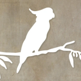 Paper Rose Studio – Cockatoo on Branch – out of stock