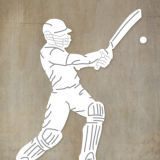 Paper Rose Studio – Cricket Player with Bat Large