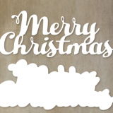 Paper Rose Studio – Merry Christmas Text – out of stock