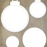 Paper Rose Studio – Stitched Christmas Ornaments
