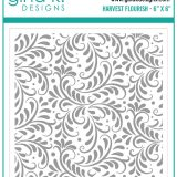 Gina K Designs – Harvest Flourish Stencil – out of stock